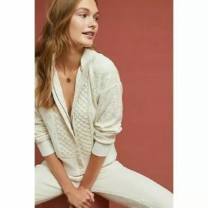 Anthro Saturday Sunday Lace Quilted Bomber Jacket
